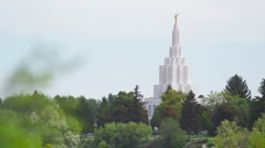 Idaho Falls Temple 22 Stock Footage