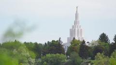 Idaho Falls Temple 22 Stock Footage