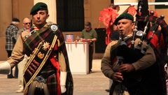 Bagpipe Player Not Moving (HD) co Stock Footage