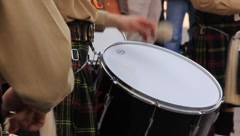 Drum in a Bagpipe Parade (HD) co Stock Footage