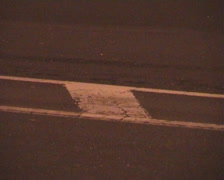 Road marking in city street for cars Stock Footage