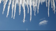 Blue icicles Stock Footage