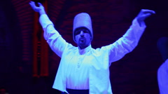 Sufi dervish dancers istanbul Stock Footage