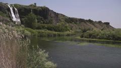 Natural Springs Waterfall Canoe 132 Stock Footage