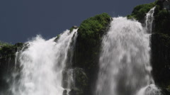 Waterfall CU tilt 154 Stock Footage