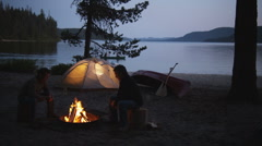 Stock Video Footage of Campfire Canoe 36