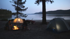 Camping Canoe 37 Stock Footage