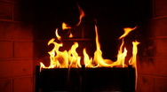 Fireplace Slow Motion (HD) Stock Footage