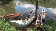 Boats in lake, Sri Lanka Stock Footage