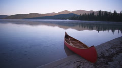 Tranquil Canoe 53 Stock Footage