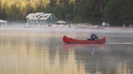 Morning Canoe 63 Stock Footage