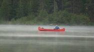 Old Man Canoe Mist 69 Stock Footage
