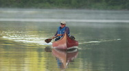 Stock Video Footage of Retired Man Red Canoe 71