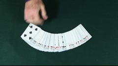 Playing Card Spread Stock Footage