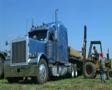 Forklift Unloading Construction Lumber 03 SD Footage