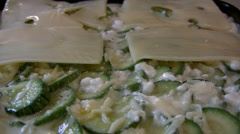 Cheese and zucchini Stock Footage
