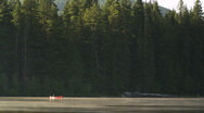Distant Red Canoe 96 Stock Footage