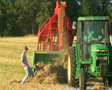 Farmer Square Baling Hay 04 SD Footage
