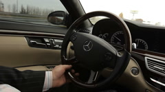 Sedan Steering Wheel Stock Footage