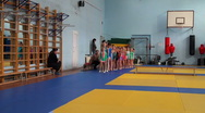 Stock Video Footage of Rhythmic gymnastics training