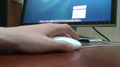 Retro Mac Mouse Stock Footage