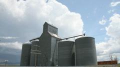 Grain Silo Timelapse Stock Footage