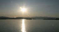 Lake Pend Oreille Sunset Timelapse Stock Footage