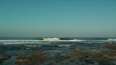 Mediterranean Sea Shore. .Slow motion crane shot. Stock Footage