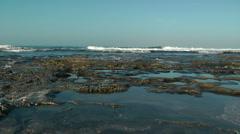 Mediterranean Sea Shore. .Crane shot. Stock Footage