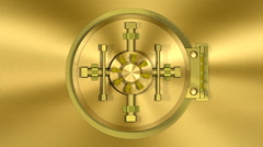 Bank Vault Transition Gold HD Stock Footage