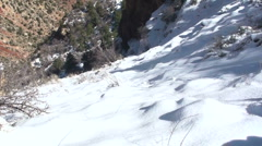 Snowy Grand Canyon Scenic Stock Footage