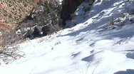 Stock Video Footage of Snowy Grand Canyon Scenic