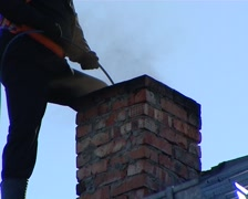 Chimney sweep 2 Stock Footage