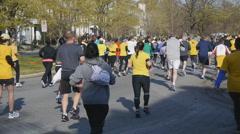 Marathon, 10k, race, running, jogging Stock Footage