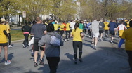 Stock Video Footage of Marathon, 10k, race, running, jogging