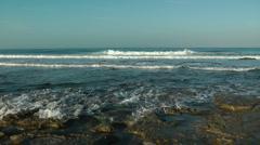 Mediterranean Sea Shore. Crane shot. - stock footage