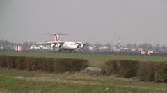 Cityjet plane landing Stock Footage