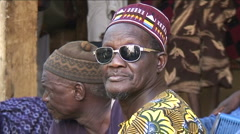 Men on market in bamako - mali - stock footage