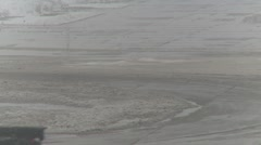 Airport snow removal during snow storm, #1 Stock Footage