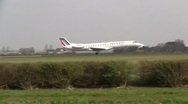 Plane , jet landing in Amsterdam Air France Embraer Stock Footage