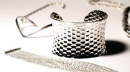 Silver Jewellery 02 dolly right Stock Footage