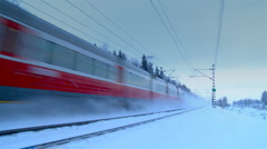 Passenger train Stock Footage