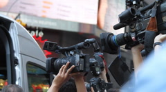 Paparazzis and Reporters in action Stock Footage
