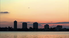 Sunrise timelpase over the Halifax River 720HD Stock Footage