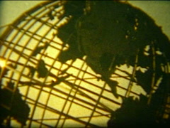 Vintage film 8mm, 1964 NY World's fair Unisphere Stock Footage