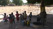 Stock Video Footage of Women and children at well