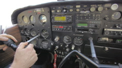Control Panel of a Cessna Stock Footage