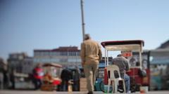 Turkey street scene istanbul Stock Footage