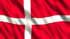 Flag of Denmark - stock footage