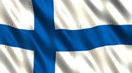Stock Video Footage of Flag of Finland